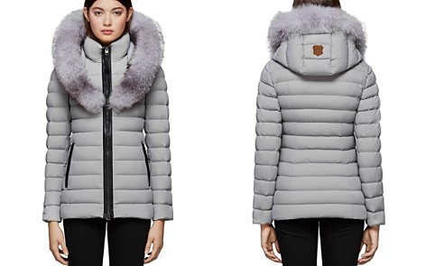 Mackage Kadalina-X Fox Fur Trim Light Down Coat - Bloomingdale's_2
