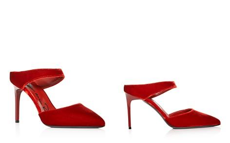 Oscar de la Renta Women's Velvet Pointed Toe High-Heel Mules - Bloomingdale's_2