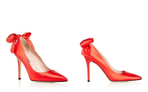 SJP by Sarah Jessica Parker Women's Lucille Satin Bow Pointed Toe Pumps - Bloomingdale's_2