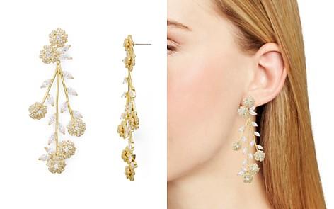 kate spade new york Statement Floral Pavé Drop Earrings - Bloomingdale's_2