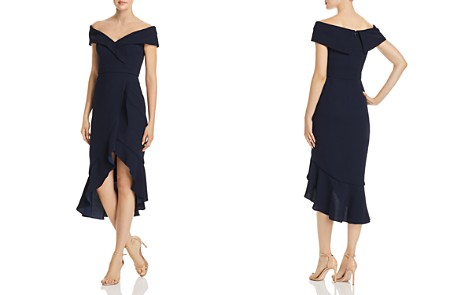 Avery G Off-the-Shoulder Ruffle Front Dress - Bloomingdale's_2