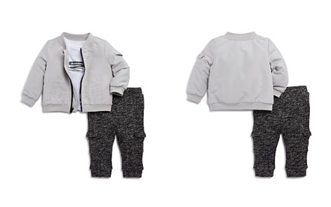 Miniclasix Boys' Bomber Jacket, Awesome Tee & Jogger Pants Set - Baby - Bloomingdale's_2
