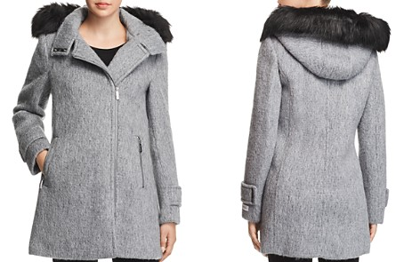 Calvin Klein Faux Fur Trim Hooded Coat - Bloomingdale's_2