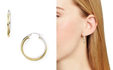 AQUA Two-Tone Double Tube Hoop Earrings - 100% Exclusive - Bloomingdale's_2