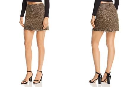 Pistola Sierra Leopard Print Denim Skirt - 100% Exclusive - Bloomingdale's_2