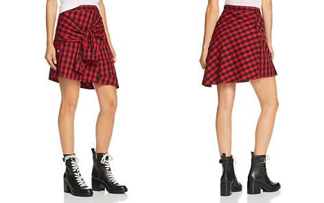 Divine Heritage Faux-Sleeve Plaid Skirt - Bloomingdale's_2