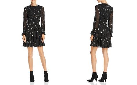 Rebecca Taylor Smocked Metallic-Detail Dress - Bloomingdale's_2