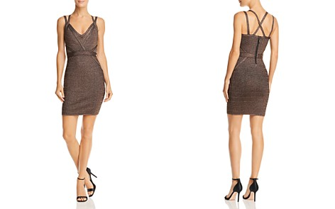 GUESS Mirage Metallic Strappy Body-Con Dress - Bloomingdale's_2