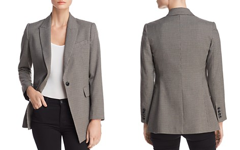 Rebecca Minkoff Celia Single-Button Houndstooth Blazer - Bloomingdale's_2