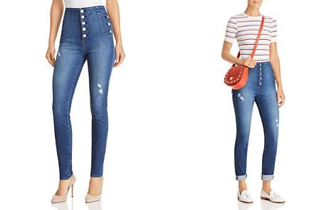 J Brand Natasha Button Sky High Skinny Jeans in Mystic Wave - Bloomingdale's_2