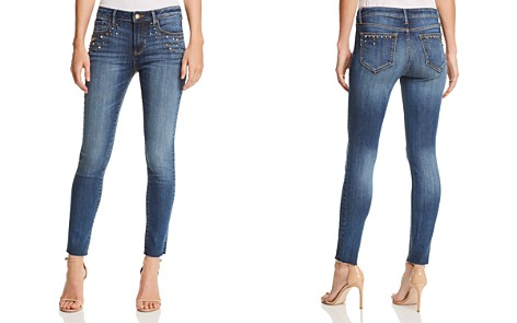 AQUA Embellished Skinny Jeans in Medium Wash - 100% Exclusive - Bloomingdale's_2