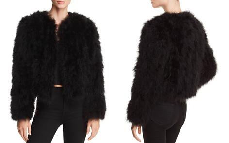 AQUA LUXE Capsule Feather Jacket - 100% Exclusive - Bloomingdale's_2