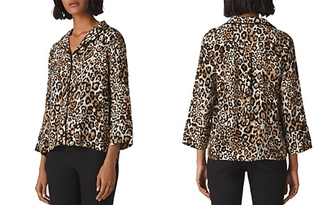 Whistles Animal-Print Pajama-Style Shirt - Bloomingdale's_2