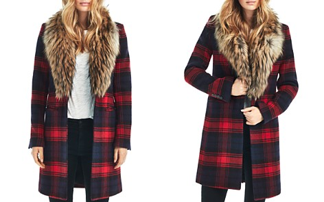 SAM. Crosby Wool Coat with Fur Trim - Bloomingdale's_2
