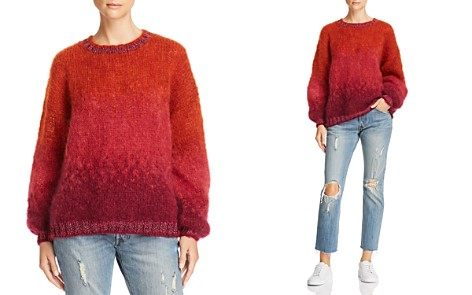Rose Carmine Metallic-Trimmed Textured Ombré Sweater - Bloomingdale's_2