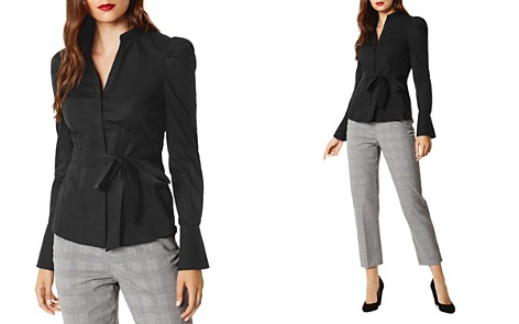 KAREN MILLEN Paneled Puff-Sleeve Shirt - Bloomingdale's_2