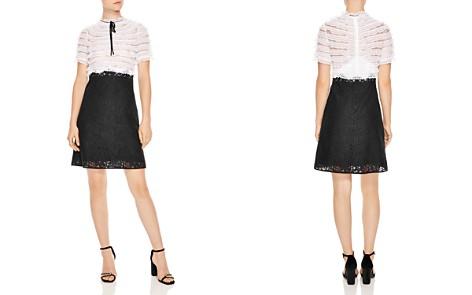 Sandro Helsinki Two-Tone Lace Dress - Bloomingdale's_2
