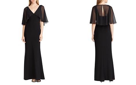 Lauren Ralph Lauren Georgette-Overlay Jersey Gown - Bloomingdale's_2