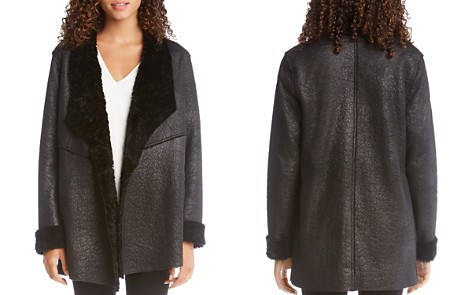 Karen Kane Faux-Shearling Open Jacket - 100% Exclusive - Bloomingdale's_2