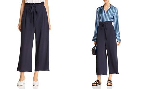 JOA Tie-Front Culotte Pants - Bloomingdale's_2