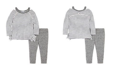 Splendid Girls' Cutout Striped Tee & Marled Leggings Set - Baby - Bloomingdale's_2
