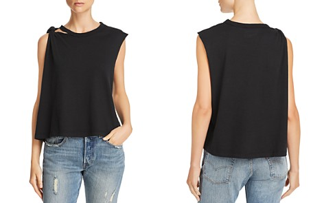 Current/Elliott The Sonic Knot Detail Muscle Tank - Bloomingdale's_2