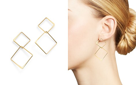 Moon & Meadow 14K Yellow Gold Interlocking Squares Drop Earrings - 100% Exclusive - Bloomingdale's_2