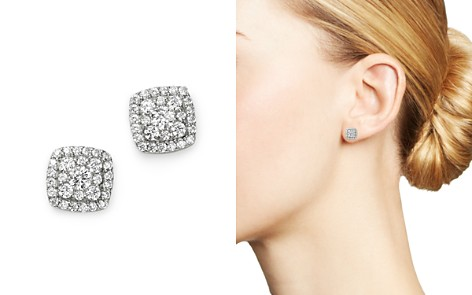 Bloomingdale's Diamond Square Cluster Stud Earrings in 14K White Gold, 0.60 ct. t.w. - 100% Exclusive_2