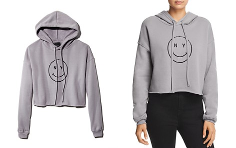 Knowlita NY Smiley Cropped Hooded Sweatshirt - Bloomingdale's_2