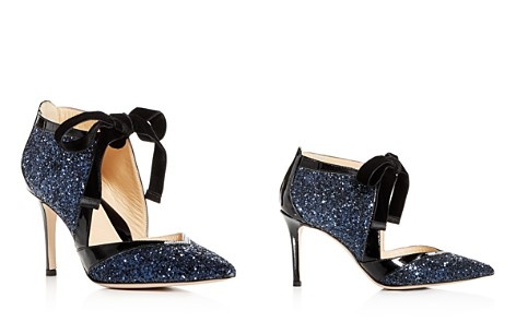 MARION PARKE Women's Glitter & Patent Leather Pointed Toe Pumps - Bloomingdale's_2