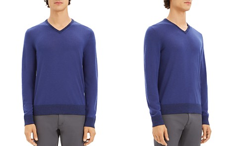 Theory Rothley Merino Wool V-Neck Sweater - Bloomingdale's_2
