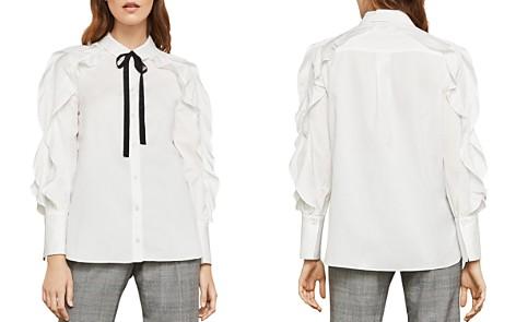 BCBGMAXAZRIA Ruffled Tie Detail Shirt - Bloomingdale's_2
