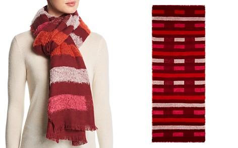 Echo Fuzzy Stripe Wrap - Bloomingdale's_2