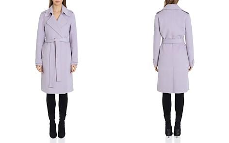 Badgley Mischka Belted Wrap Coat - Bloomingdale's_2