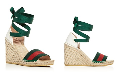 Gucci Sylvie Women's Ankle Tie Platform Wedge Espadrille Sandals - Bloomingdale's_2
