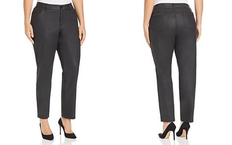 Lafayette 148 New York Plus Mercer Coated Jeans in Black - Bloomingdale's_2