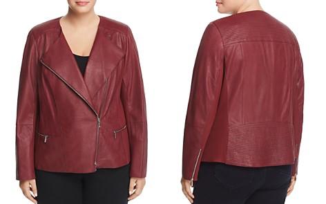 Lafayette 148 New York Plus Trista Leather Moto Jacket - Bloomingdale's_2