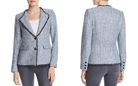 KARL LAGERFELD Paris Contrast Fringe-Trimmed Tweed Jacket - Bloomingdale's_2