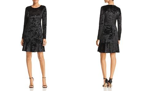 MICHAEL Michael Kors Crushed Velvet Flutter Dress - Bloomingdale's_2