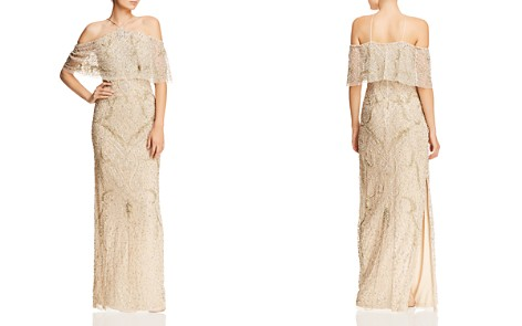 Aidan Mattox Cold-Shoulder Beaded Gown - 100% Exclusive - Bloomingdale's_2