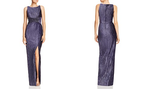 Adrianna Papell Ribbed Velvet Column Gown - Bloomingdale's_2