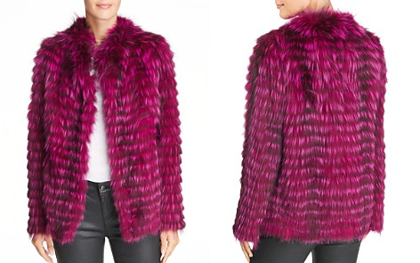 Peri Luxe Feathered Fox-Fur Jacket - Bloomingdale's_2