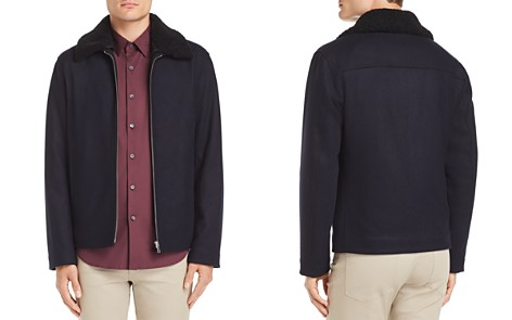 Theory Wyatt Modus Melton Faux Shearling-Trimmed Jacket - 100% Exclusive - Bloomingdale's_2