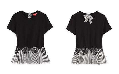 AQUA Girls' Lace Detail Peplum Top, Big Kid - 100% Exclusive - Bloomingdale's_2