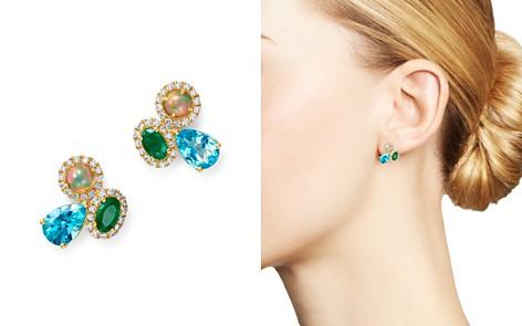Bloomingdale's Multi Gemstone & Diamond Earrings in 14K Yellow Gold - 100% Exclusive_2