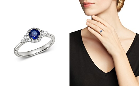 Bloomingdale's Blue Sapphire & Diamond Ring in 14K White Gold - 100% Exclusive_2
