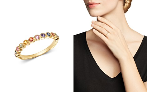 Bloomingdale's Multicolor Sapphire Band Ring in 14K Yellow Gold - 100% Exclusive_2