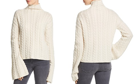 Theory Horseshoe Cable Cashmere Sweater - Bloomingdale's_2