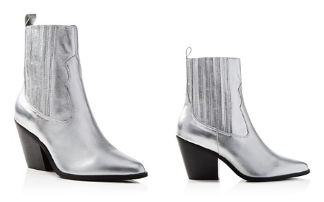 AQUA Women's Ciao Pointed Toe Metallic Leather Booties - 100% Exclusive - Bloomingdale's_2