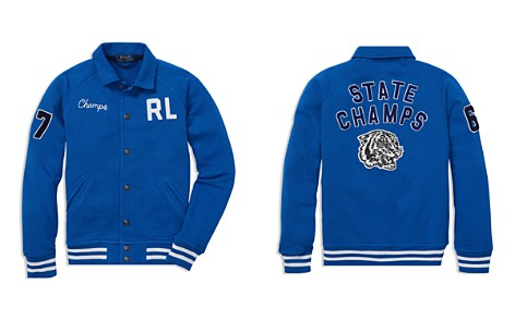 Ralph Lauren Boys' Terry Baseball Jacket - Big Kid - Bloomingdale's_2